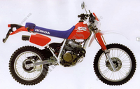 HONDA XR250R from 1986 with single carburetor